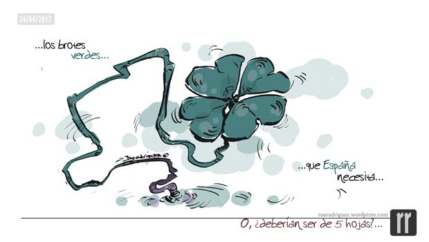 viñeta numero 19 _ los brotes verdes que España necesita __ ruarodriguez